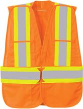 Picture of 5 Point Vertical Stripe Tear Away Safety Vest