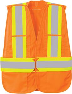 5 Point Vertical Stripe Tear Away Safety Vest